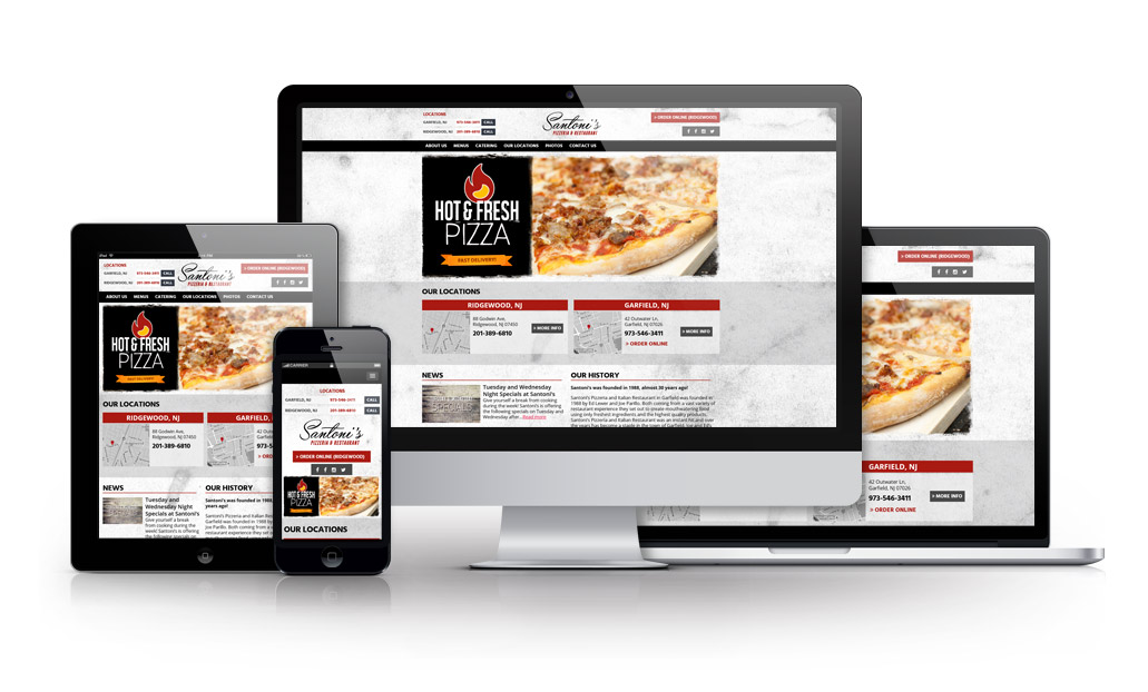 Welcome to the New Santoni's Pizza Website
