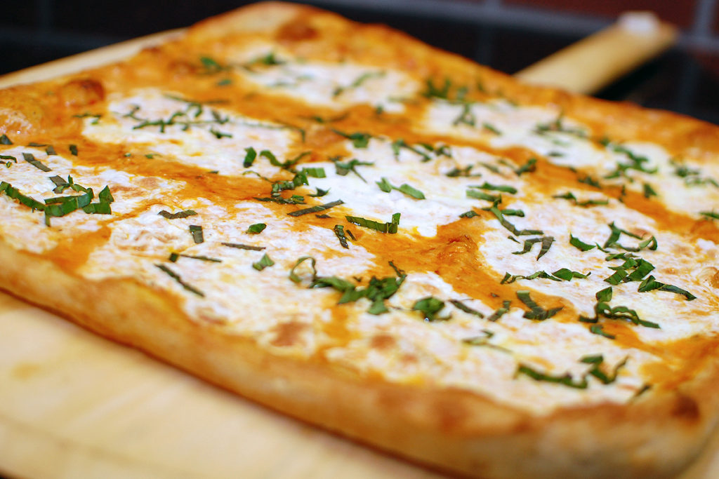 Sicilian Pie with Fresh Mozzarella